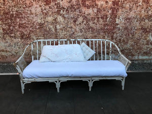 Lounge - Cane - White - 3 seater
