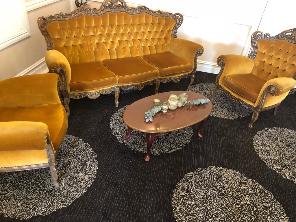 Lounge - 3 Piece Velvet - gold