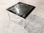 Coffee Table - Gold and Black Glass