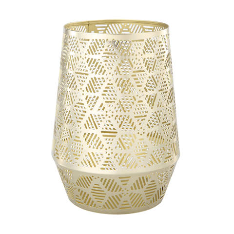 Candle Holder - gold mesh