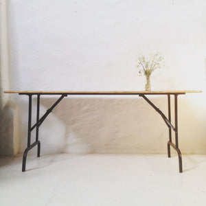 Table - Timber and Metal Trestle