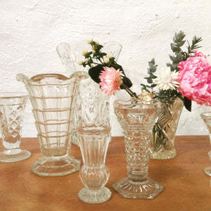 Vase - vintage glass - assorted shapes and styles