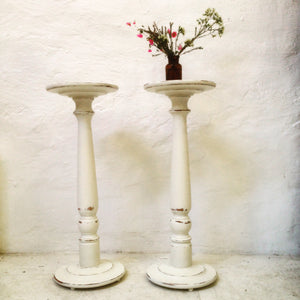 Plant Stands - timber - white