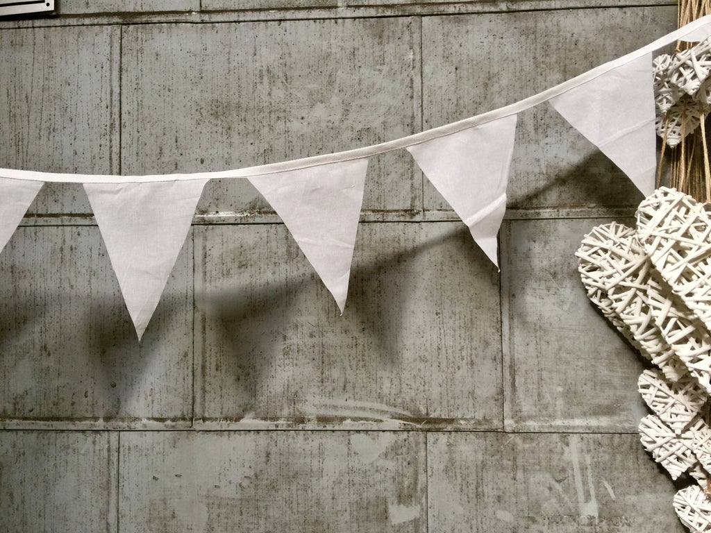 Bunting - Cotton - White