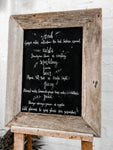 Chalkboard - recycled timber - A2