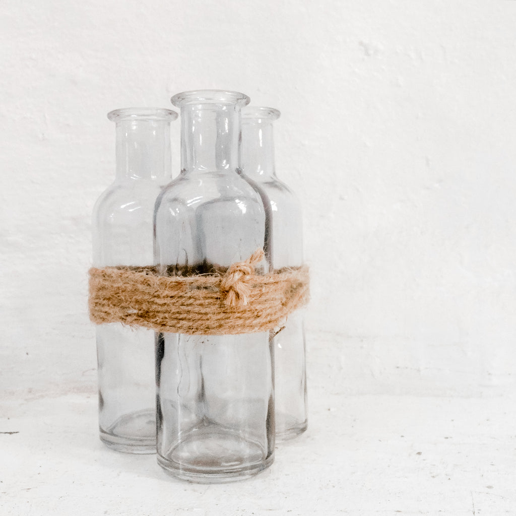 Bottle - Trio tied with rope