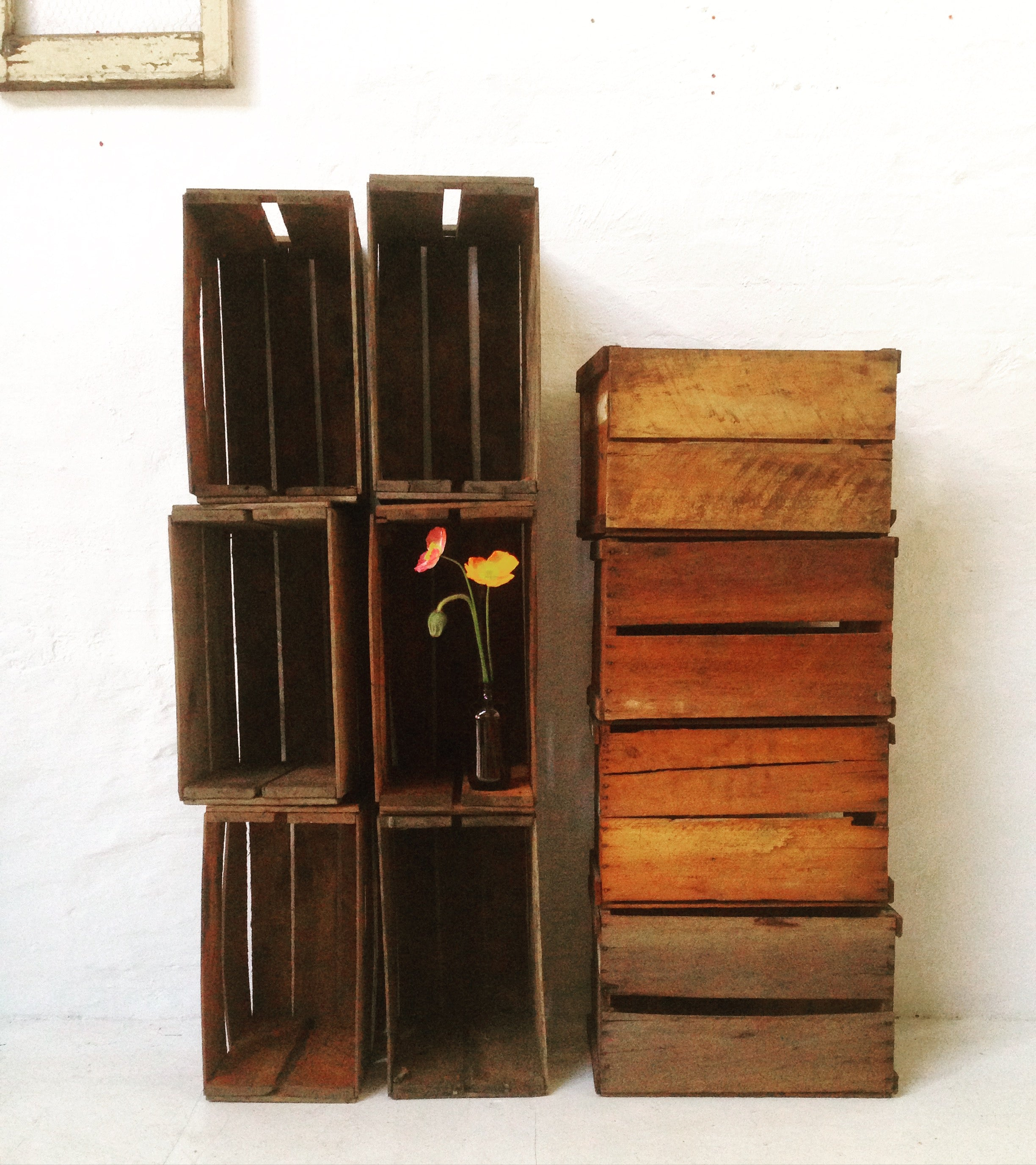 Crate - rustic - decorative