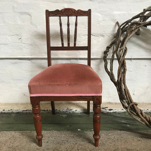 Chair - Velvet - Soft Pink