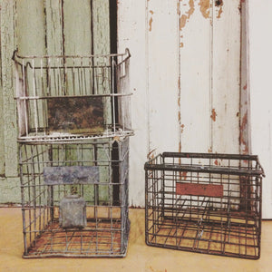 Metal Milk Crate