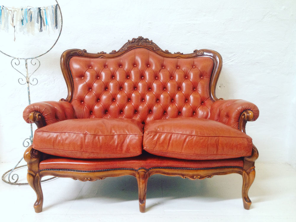 Lounge - Leather Chesterfield Sofa