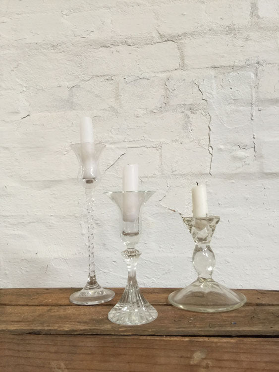 Candle Sticks - Glass