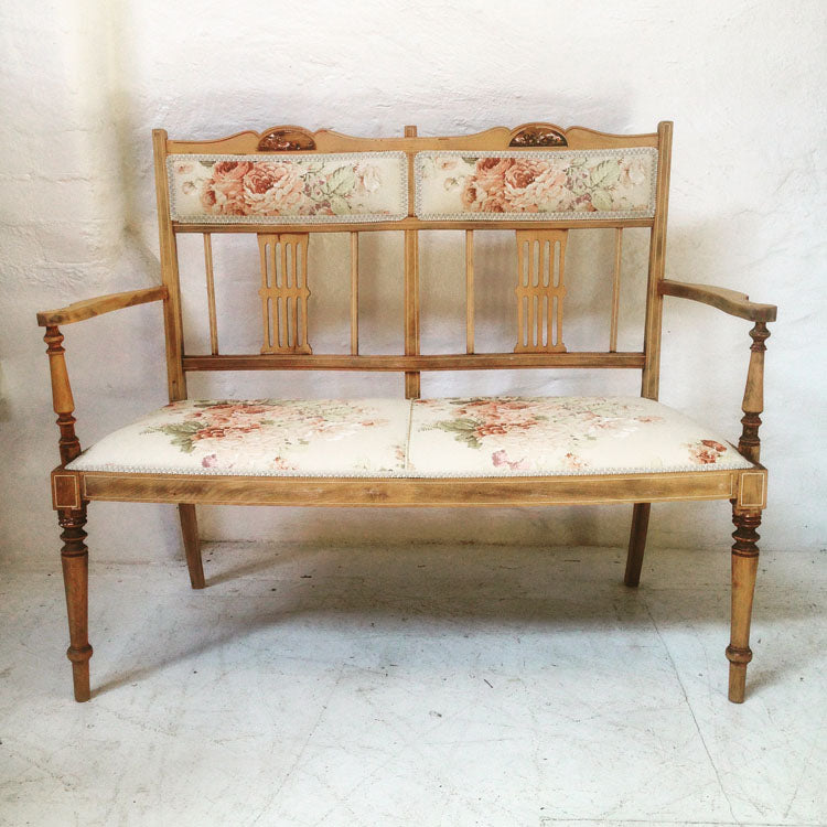 Bench – upholstered timber love seat