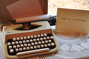 Typewriter - cream