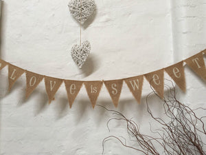 Bunting - Hessian - Love Is Sweet