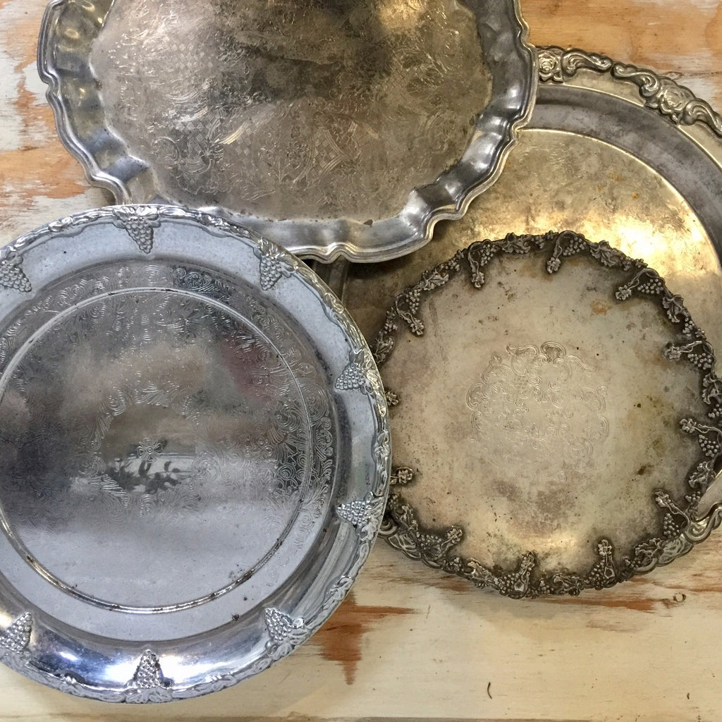 Serving Tray - silver