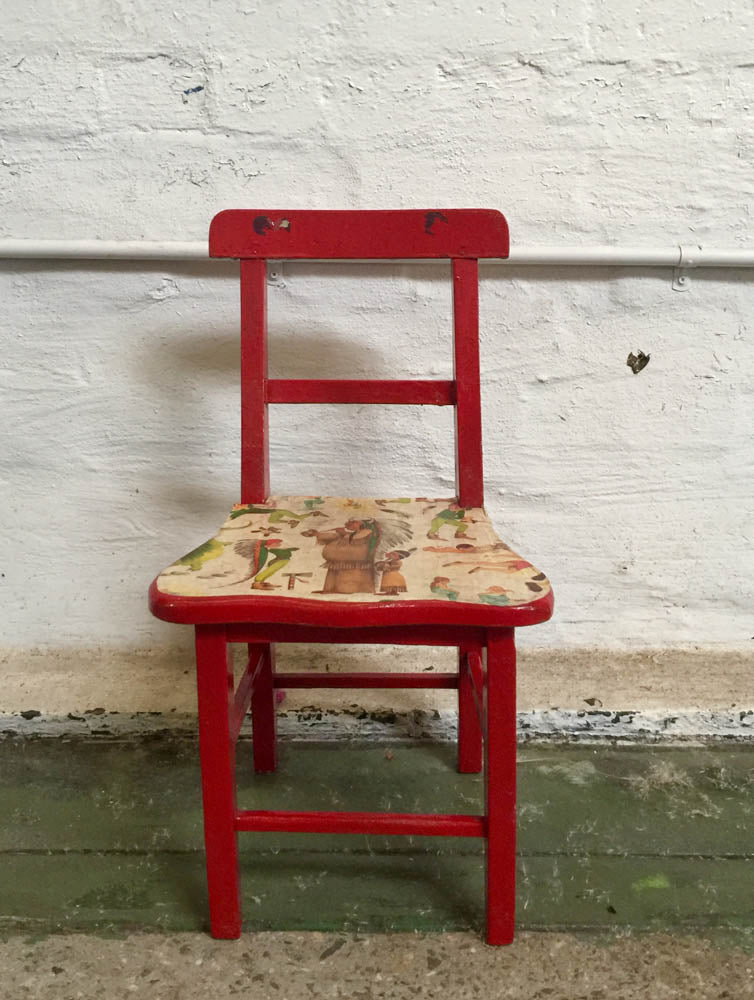 Chair – red child's seat