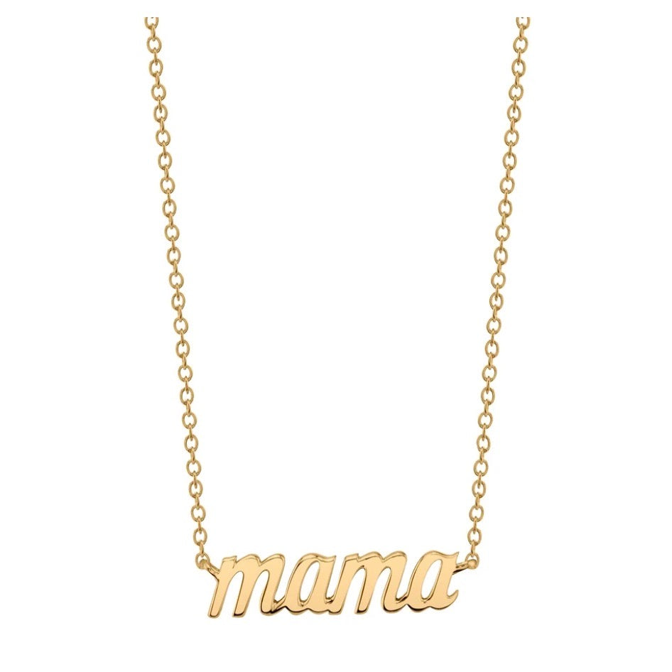 mama necklace mother's day gold