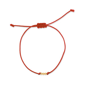 THREE BEAD STRING BRACELET