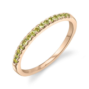 Colette Large Pave Ring Peridot / 14K Rose Gold