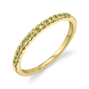Colette Large Pave Ring Peridot / 14K Yellow Gold