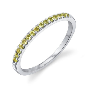 Colette Large Pave Ring Peridot / 14K White Gold
