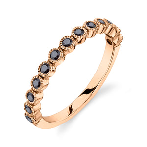 BEAD SET RING - BLACK DIAMOND