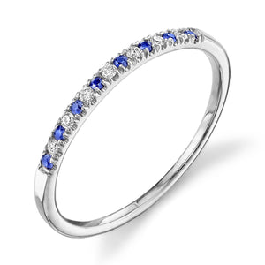 white gold, blue sapphire, white diamond