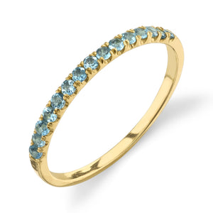 yellow gold, aquamarine