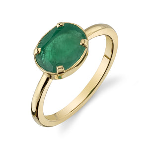 EMERALD AUDREY BIRTHSTONE RING