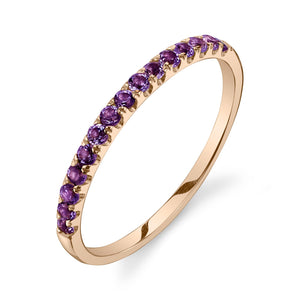 Colette Large Pave Ring Amethyst / 14K Yellow Gold