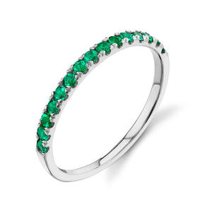 emerald, white gold