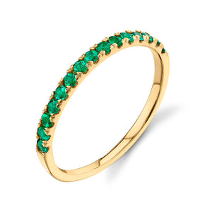 emerald, yellow gold