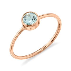 rose gold, aquamarine
