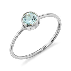aquamarine, white gold