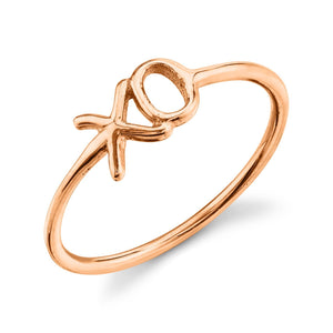 X O Ring 14K Rose Gold / 4