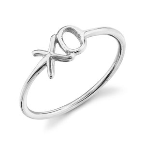 X O Ring 14K White Gold / 4