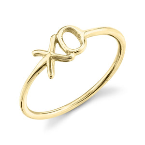 X O Ring 14K Yellow Gold / 4