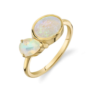 OPAL ZAHA BIRTHSTONE RING