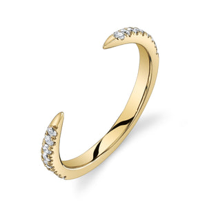 Open Ring White Diamond / Yellow Gold