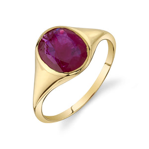 RUBY FRIDA BIRTHSTONE RING