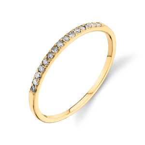 Colette Thin Pavé Band Gray Diamond / 14K Yellow Gold