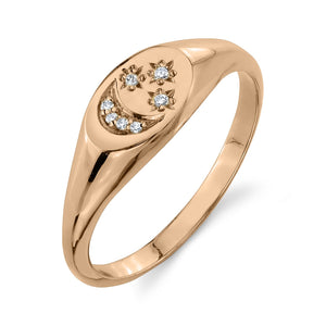 white diamond, rose gold