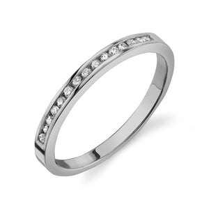 Channel Set Ring White Diamond / 14K Gold