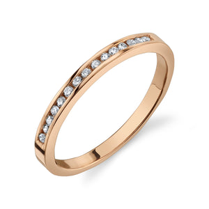 Channel Set Ring White Diamond / 14K Rose Gold