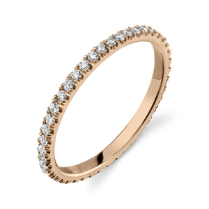 Colette Thin Full Pavé Band White Diamond / 14K Rose Gold 6