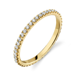 Colette Thin Full Pavé Band White Diamond / 14K Yellow Gold 6