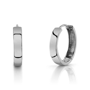 Large Hoops 14K White Gold / Pair