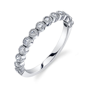 Bead Set Ring White Diamond / 14K Gold