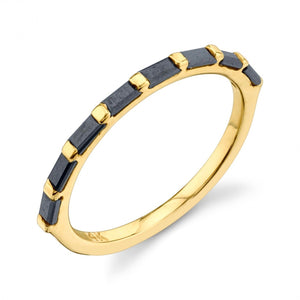 black diamond, yellow gold