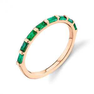 emerald, rose gold